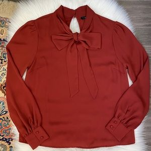 Forever21: Tie Neck Blouse